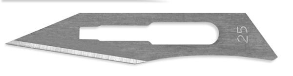 Picture of #25 Stainless Steel Scalpel Blades - Box of 100