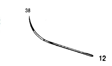 Picture of 38mm, Half Curved Reverse Cutting Suture Needle - Style 102-12