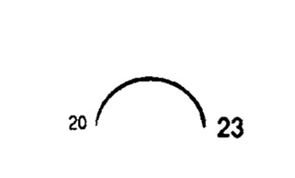 Picture of 20mm, 1/2 Circle Reverse Cutting Suture Needle - Style 103-23