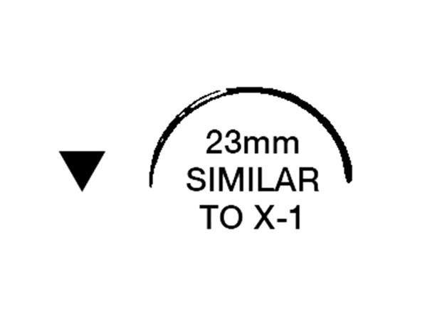 "Picture of 3/0, X-1, 18"" Silk Black Braided Suture - B64E"