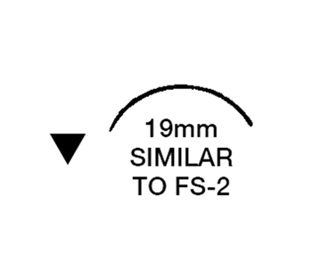 """Picture of 3/0, FS-2, 18"""" Silk Black Braided Suture - B66E"""