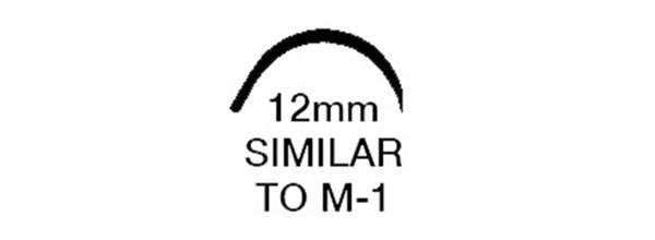 "Picture of 5/0, M-1, 18"" Silk Black Braided Suture - B65CN"