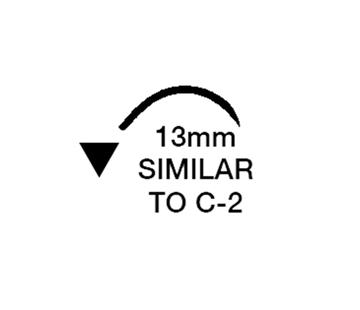 "Picture of 5/0, C-2, 18"" Silk Black Braided Suture - B77C"