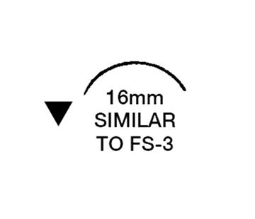"""Picture of 5/0, FS-3, 18"""" Nylon Black Mono Suture - BN65C"""