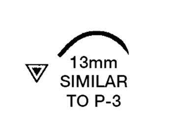 """Picture of 5/0, P-3, 18"""" Nylon Black Mono Suture - BN62C"""