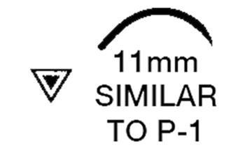 """Picture of 6/0, P-1, 18"""" Nylon Black Mono Suture - BN61B"""